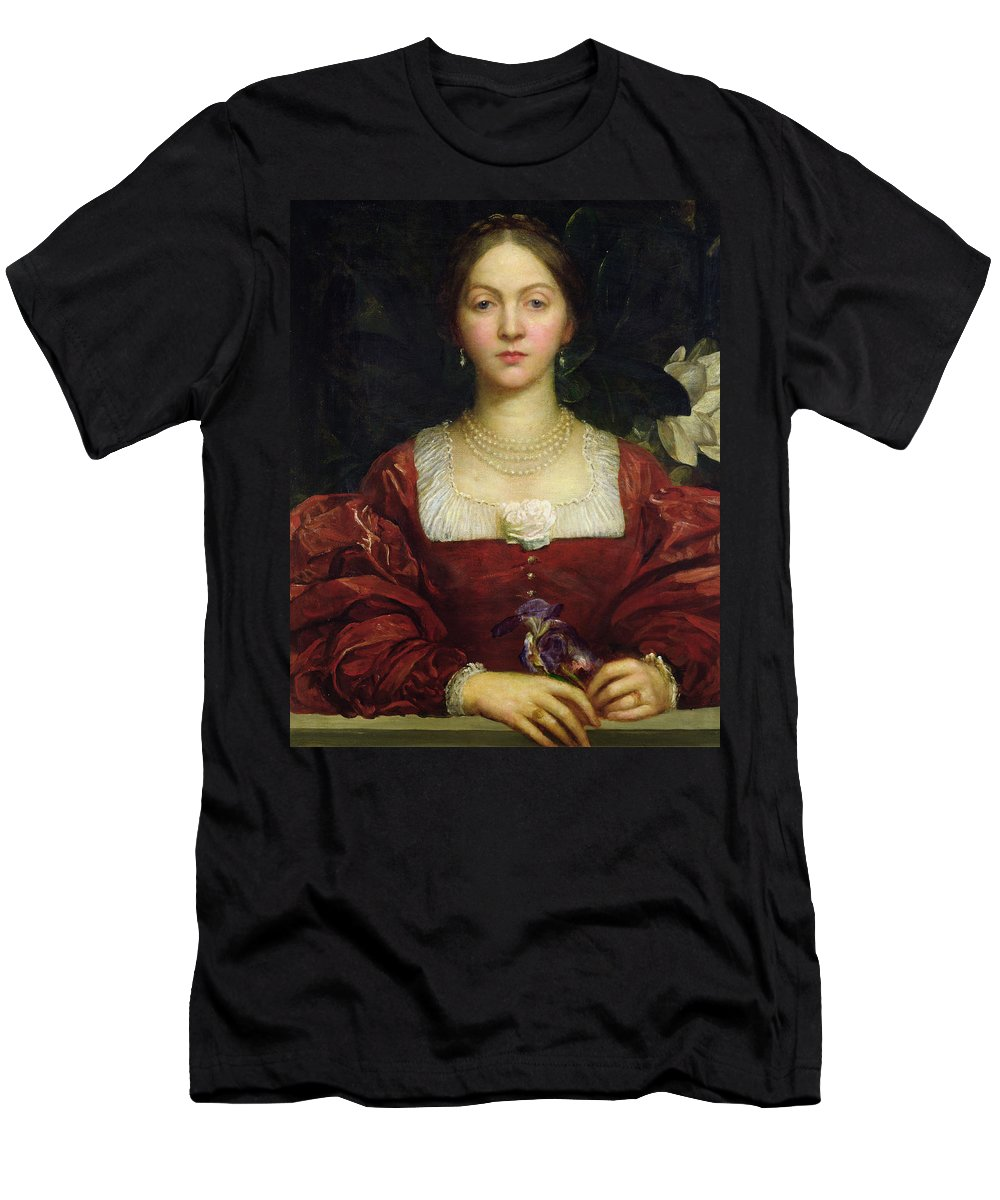 George Frederick Watts Men's T-Shirt (Athletic Fit) featuring the painting Portrait Of Countess Of Airlie by George Frederick Watts