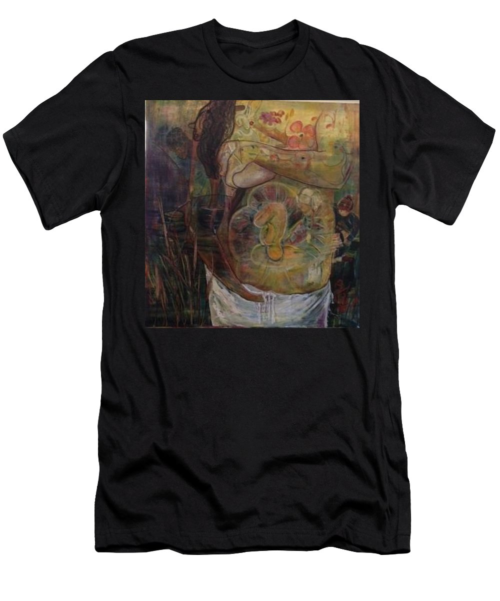 Women With Child T-Shirt featuring the painting Precious by Peggy Blood