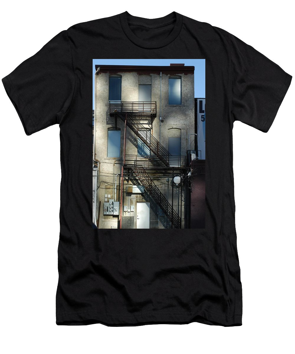 Alley Men's T-Shirt (Athletic Fit) featuring the photograph Preferred Entrance by Joseph Yarbrough