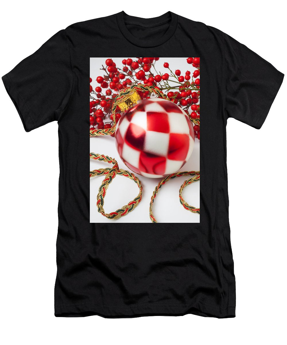 Pretty Men's T-Shirt (Athletic Fit) featuring the photograph Pretty Christmas Ornament by Garry Gay