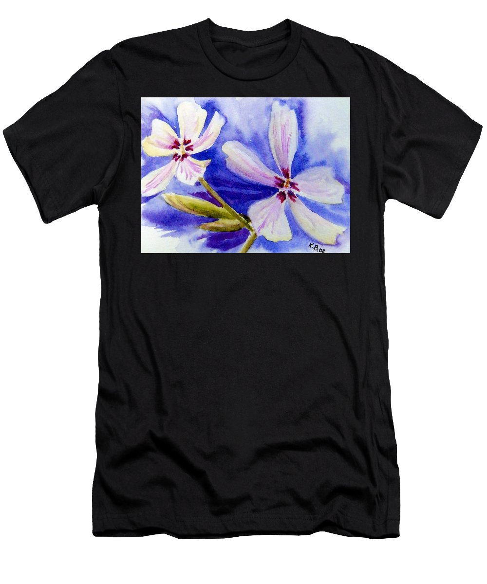 Floral Men's T-Shirt (Athletic Fit) featuring the painting Pretty Flowers by Katherine Berlin