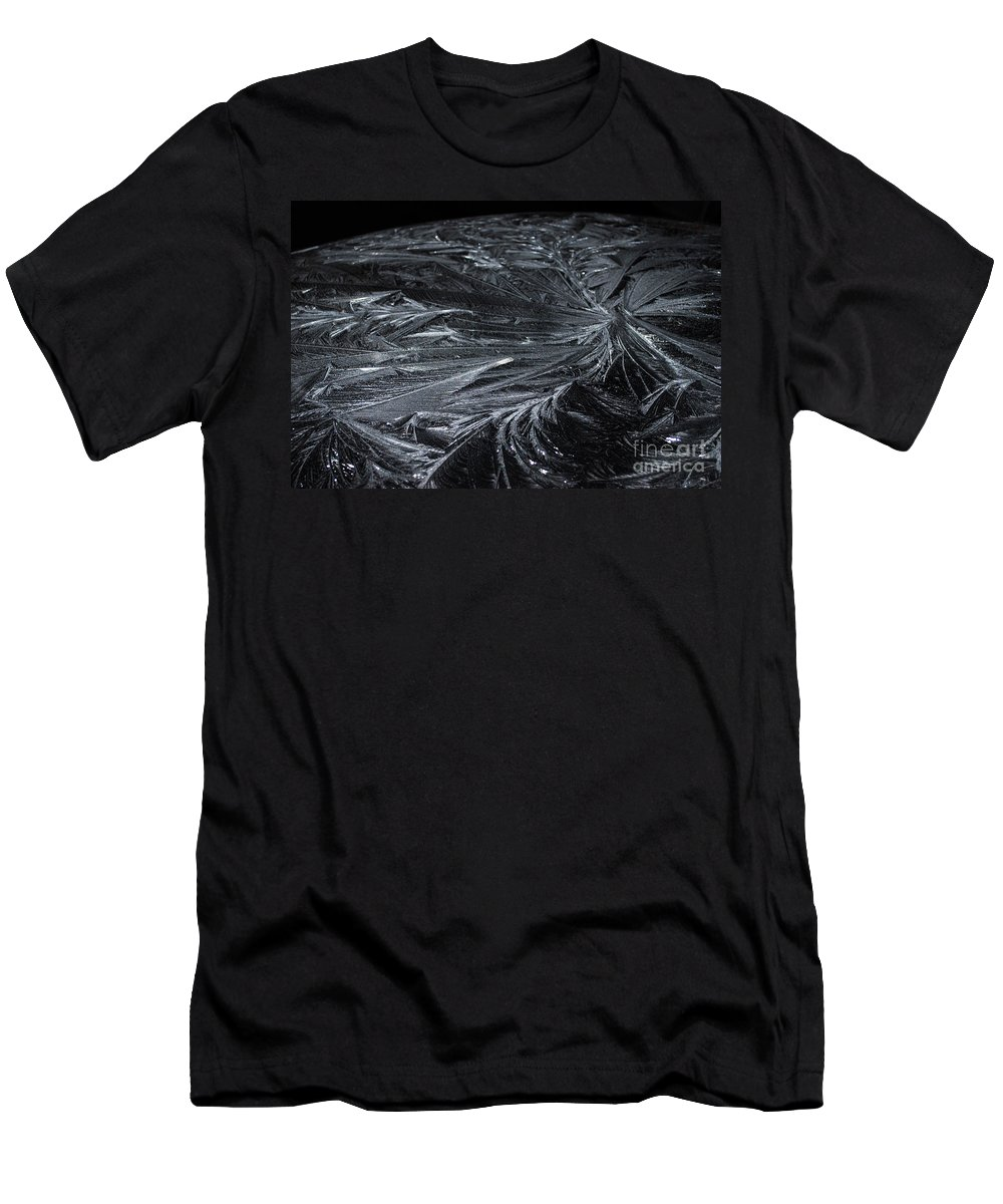 Ice Men's T-Shirt (Athletic Fit) featuring the photograph Pretty Icy by Judy Wolinsky