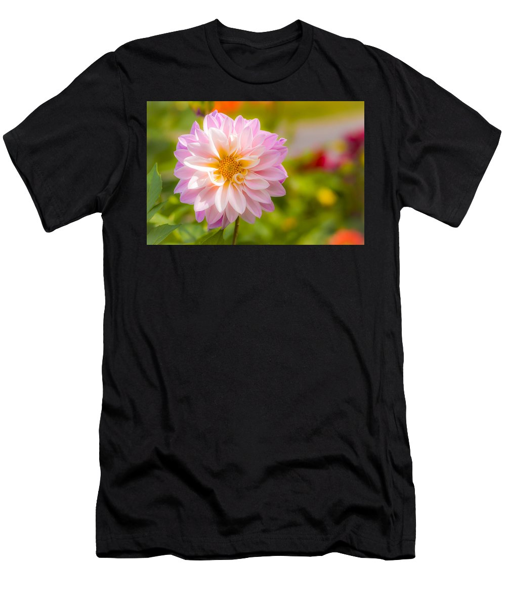 Pink Men's T-Shirt (Athletic Fit) featuring the photograph Pretty In Pink by Louis Rivera