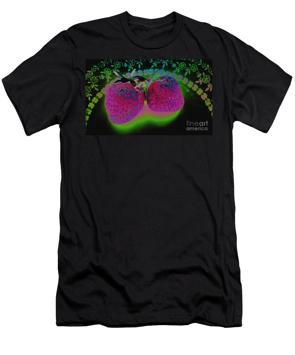 Strawberry Men's T-Shirt (Athletic Fit) featuring the photograph Pretty In Pink by Martin Howard