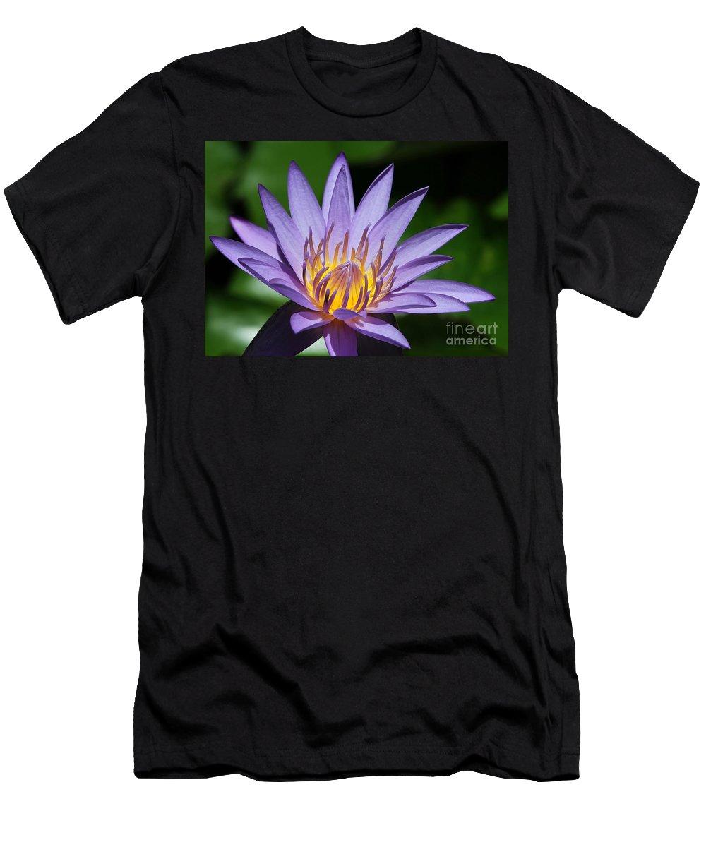 Landscape T-Shirt featuring the photograph Pretty Purple Petals by Sabrina L Ryan