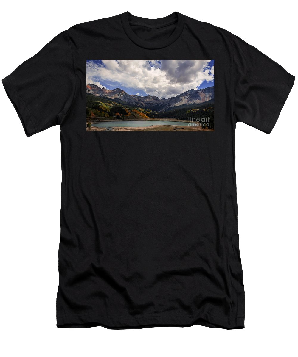 Lake Men's T-Shirt (Athletic Fit) featuring the photograph Priest Lake Colorado by Janice Pariza