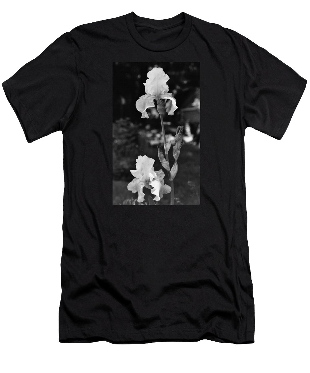 Flower Men's T-Shirt (Athletic Fit) featuring the photograph Prized Irises by VLee Watson