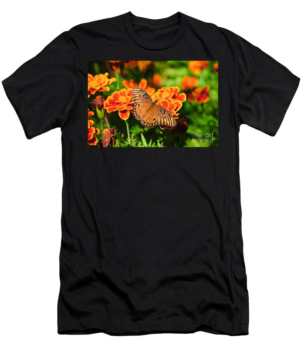 Butterfly Men's T-Shirt (Athletic Fit) featuring the photograph Proboscis by Charles Dobbs