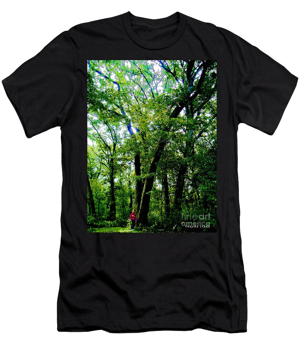 Child Men's T-Shirt (Athletic Fit) featuring the photograph Proportion From The Series The Elements And Principles Of Art by Verana Stark