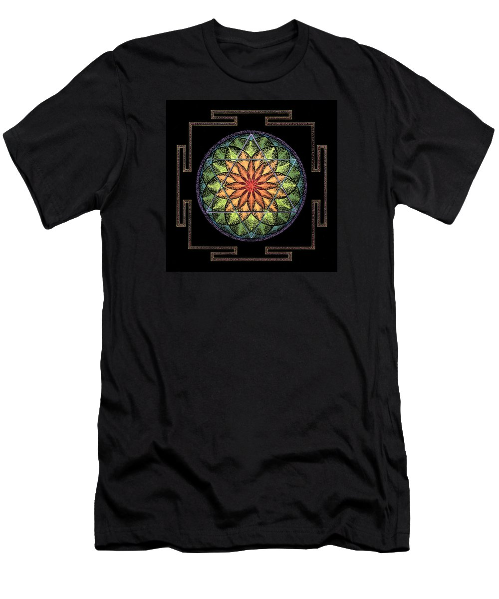 Healing Mandala Men's T-Shirt (Athletic Fit) featuring the painting Prosperity by Keiko Katsuta