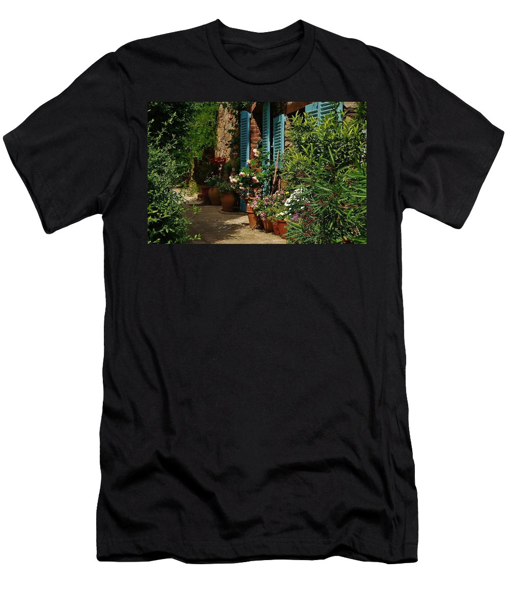 Provence Men's T-Shirt (Athletic Fit) featuring the photograph Provencal Alley by Dany Lison