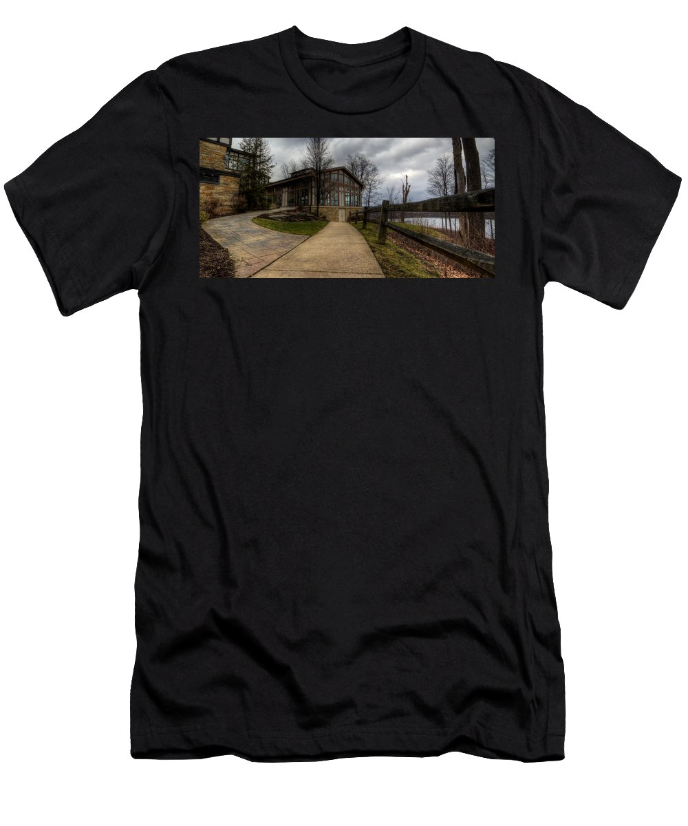 State Park Men's T-Shirt (Athletic Fit) featuring the photograph Punderson State Park by David Dufresne