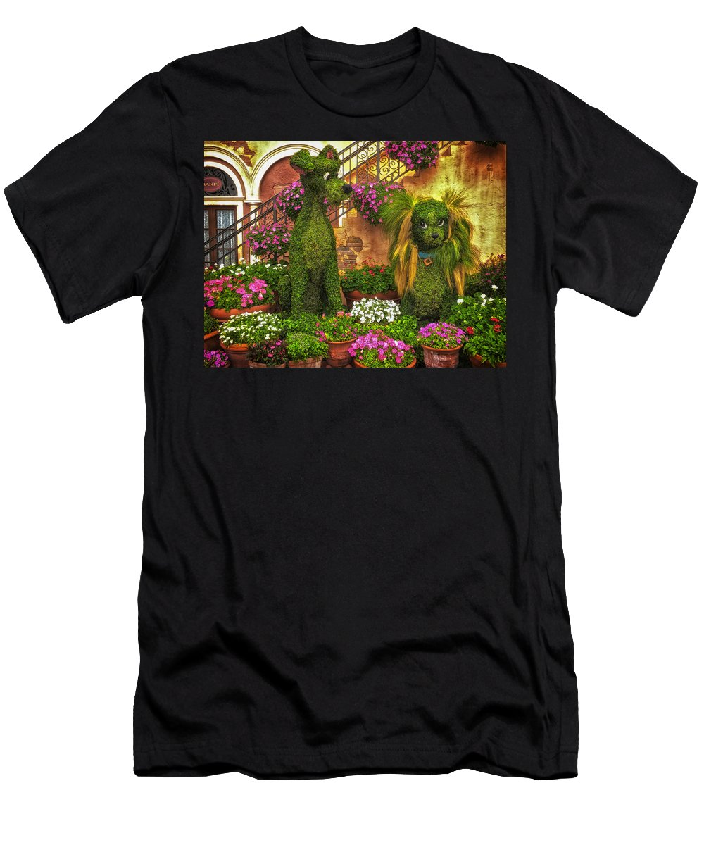 Flowers Men's T-Shirt (Athletic Fit) featuring the photograph Puppy Love by Thomas Woolworth