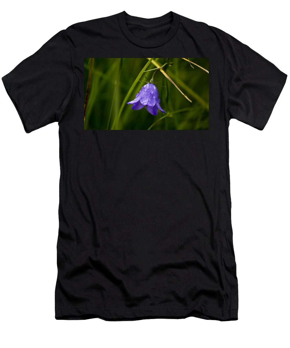 Flower Men's T-Shirt (Athletic Fit) featuring the photograph Purple Bell by Patrick Moore
