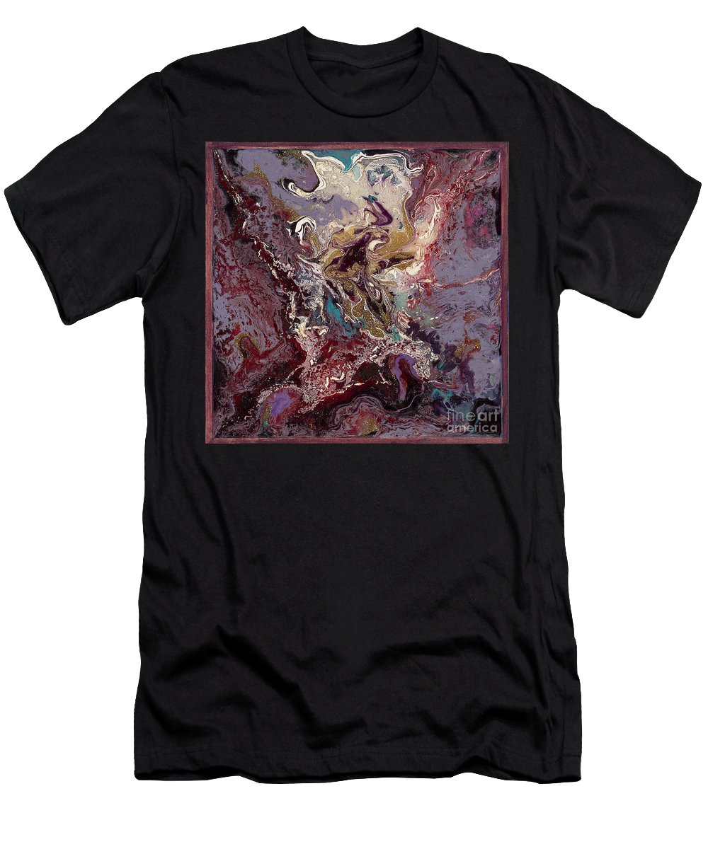 Purple Men's T-Shirt (Athletic Fit) featuring the painting Purple Blitz by Nadine Rippelmeyer