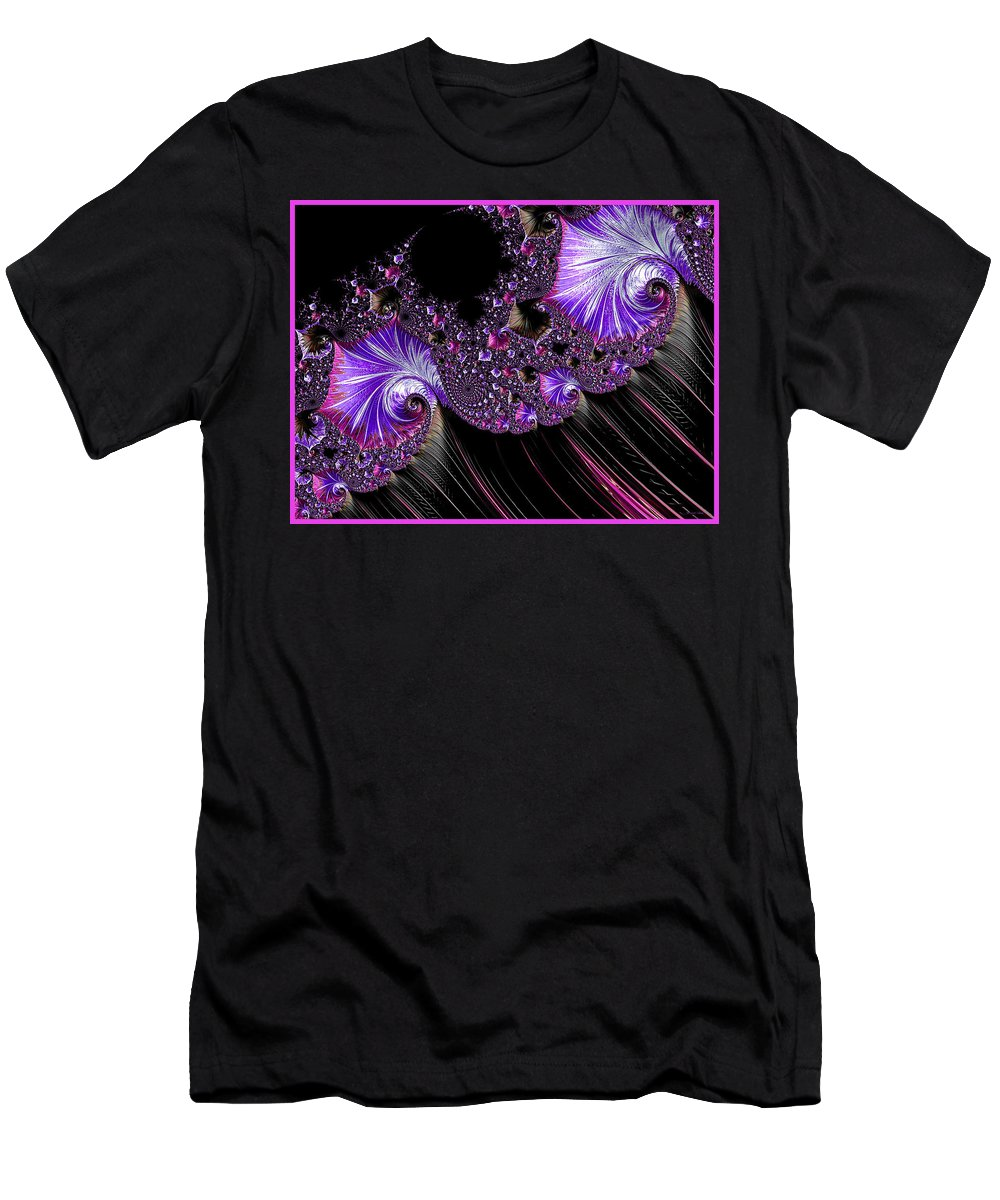 Abstract Men's T-Shirt (Athletic Fit) featuring the photograph Purple Dream by Barbara Zahno