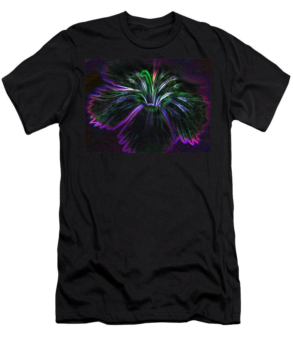 Floral Men's T-Shirt (Athletic Fit) featuring the photograph Purple Edges by Tera Michaels