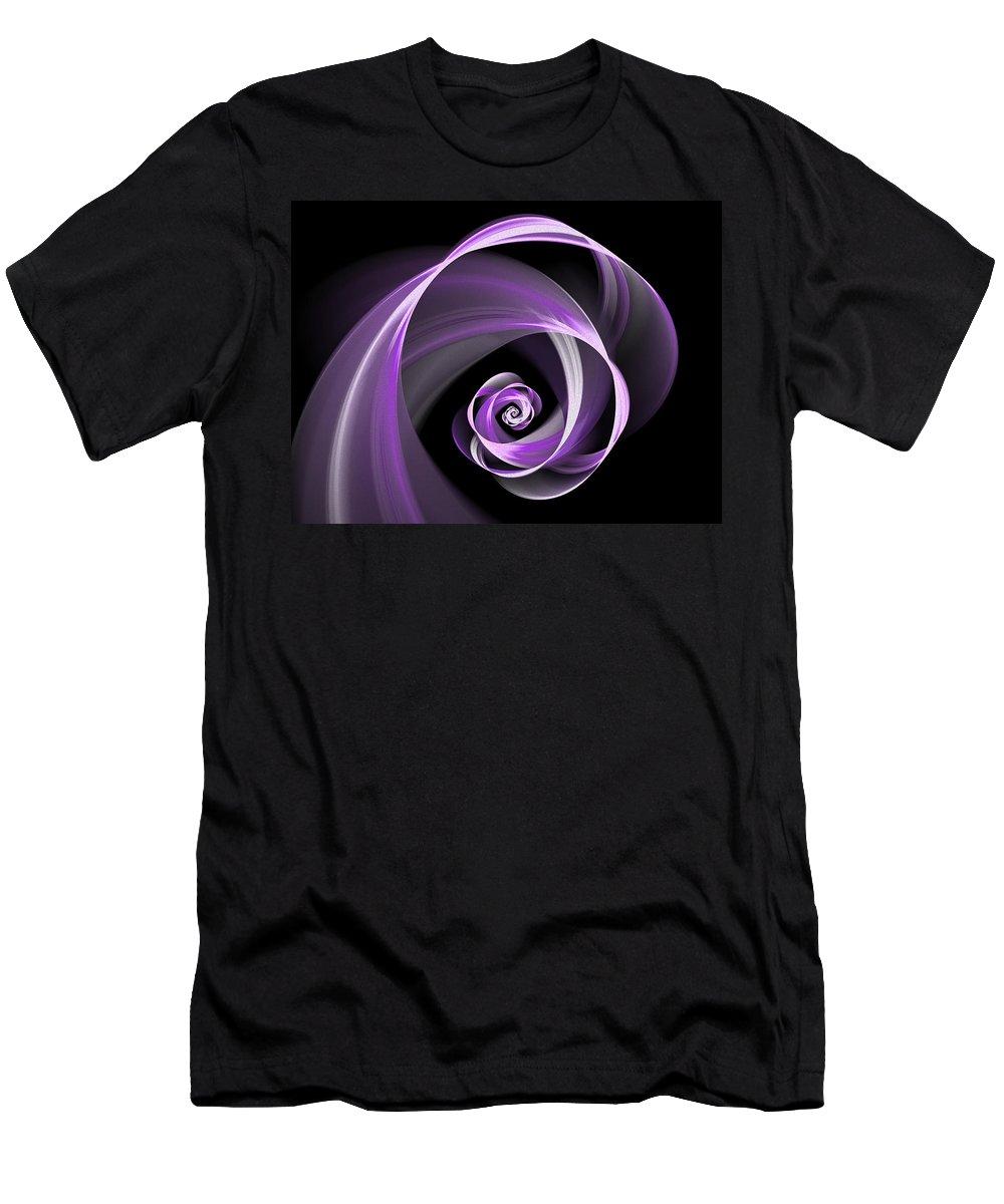Digital Art Men's T-Shirt (Athletic Fit) featuring the digital art Purple Flirt by Gabiw Art