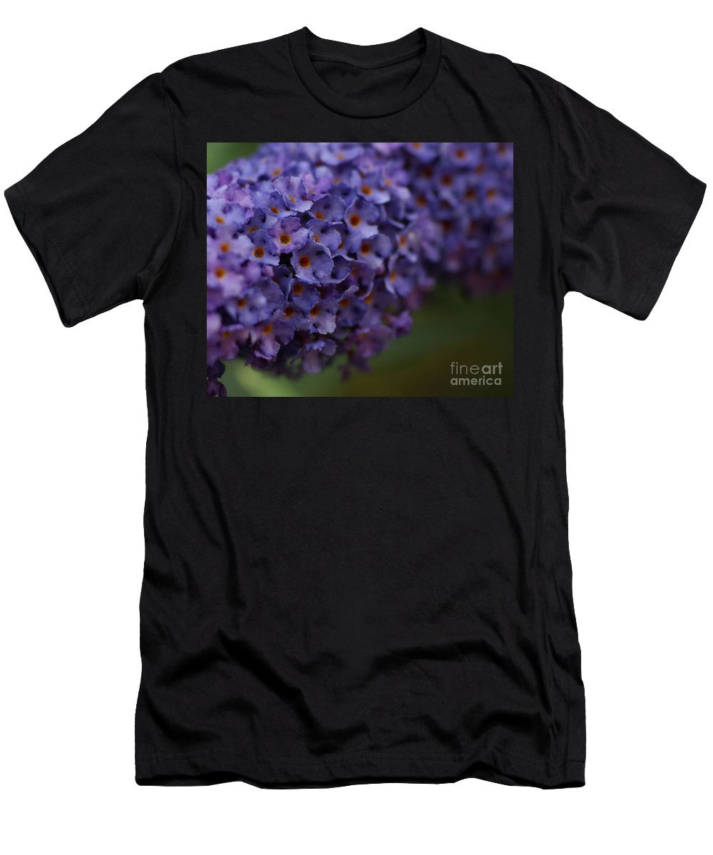 Purple Men's T-Shirt (Athletic Fit) featuring the photograph Purple Flowers 1 by Carol Lynch