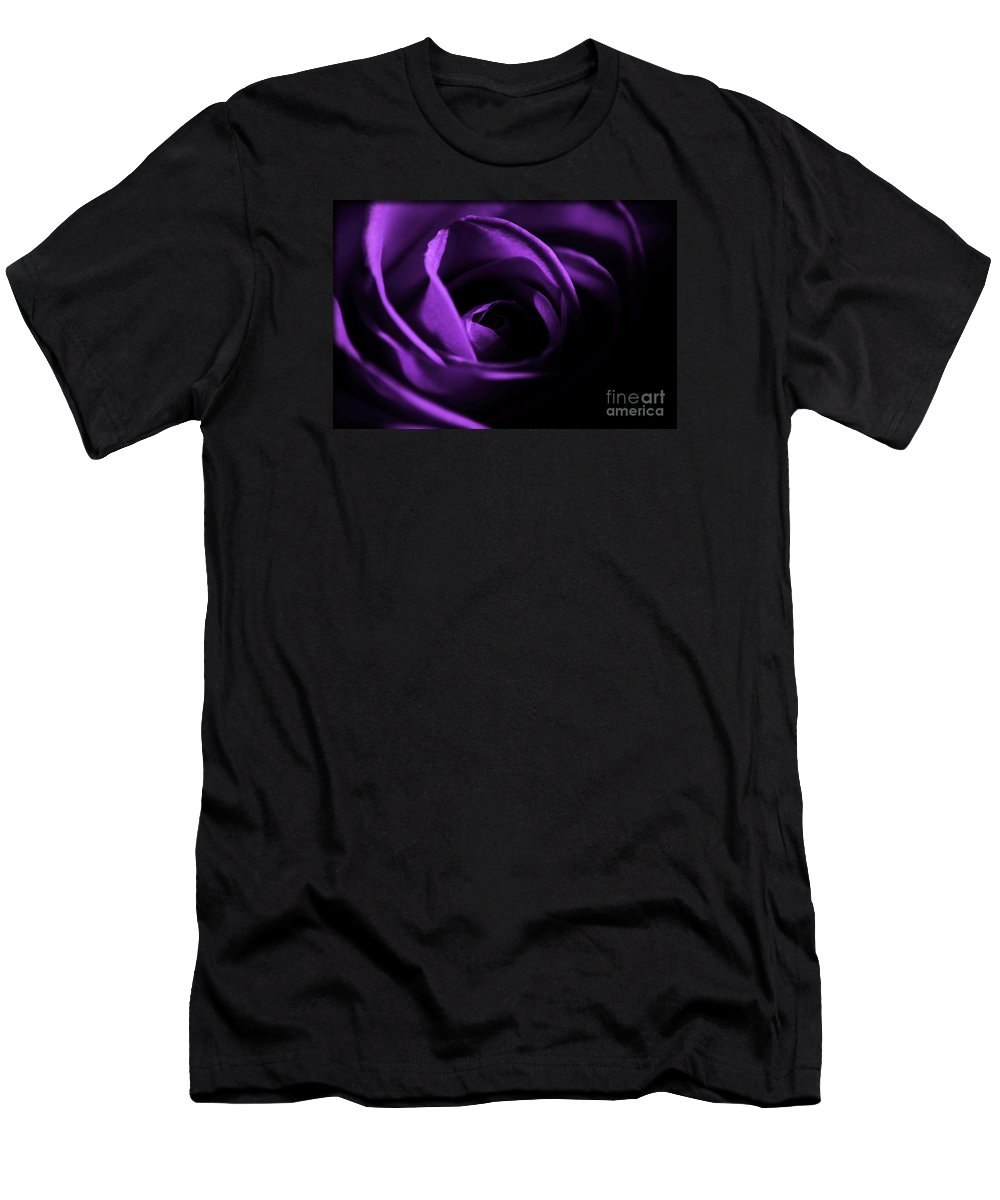 Rose Men's T-Shirt (Athletic Fit) featuring the photograph Purple Passion by Robin Lynne Schwind