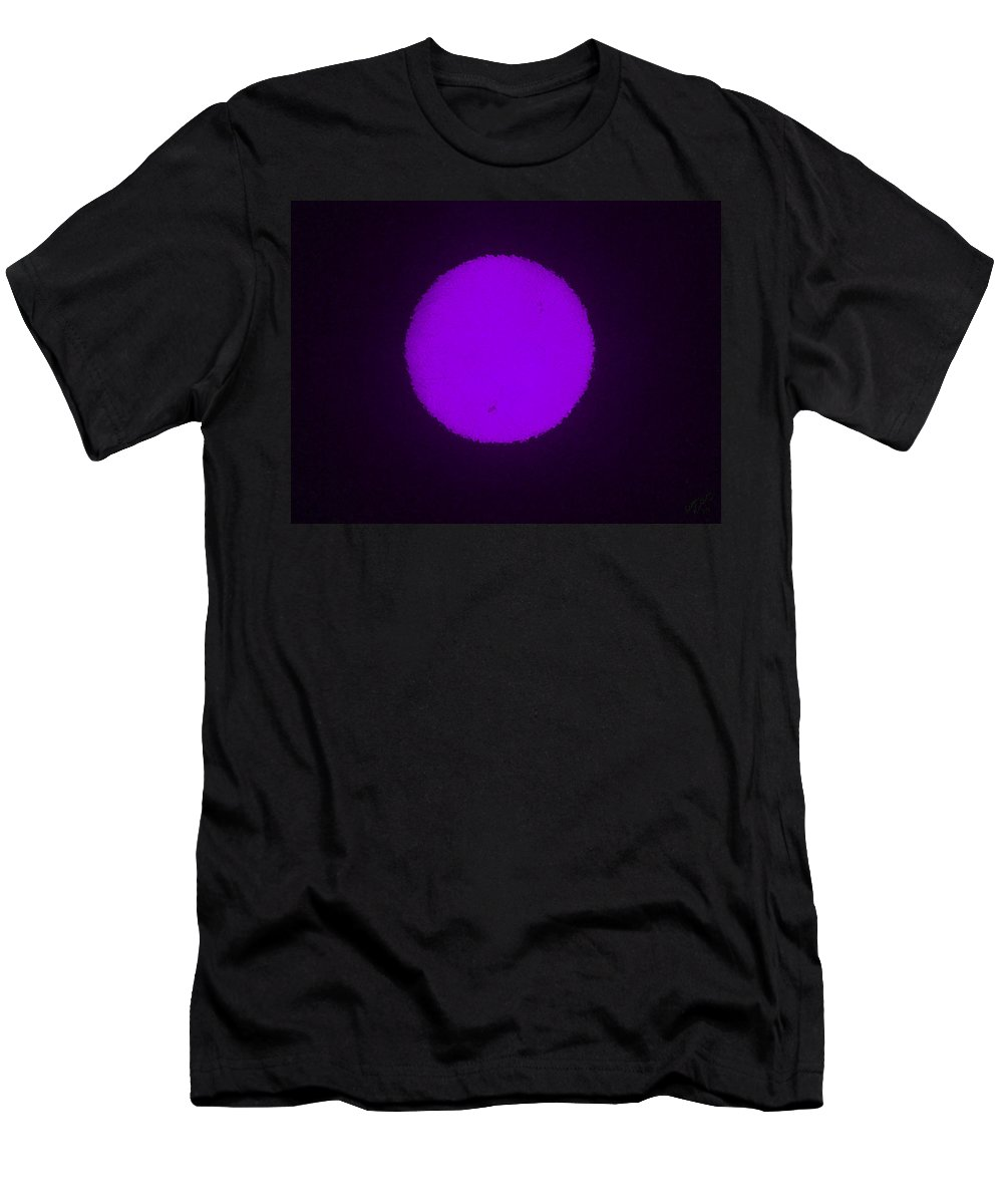 Planet Men's T-Shirt (Athletic Fit) featuring the painting Purple Planet by Bruce Nutting