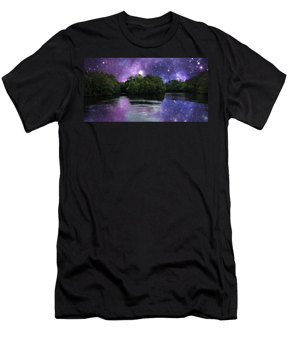 Stars Men's T-Shirt (Athletic Fit) featuring the photograph Purple Takeover by Michele Nelson