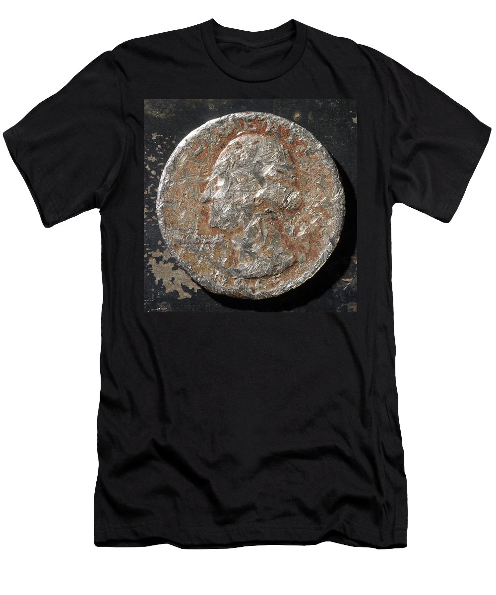 Americana Men's T-Shirt (Athletic Fit) featuring the photograph Q 1965 D H by Robert Mollett