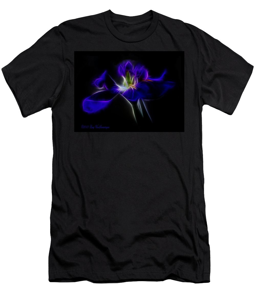 Iris T-Shirt featuring the photograph Quasar Iris by Lucy VanSwearingen