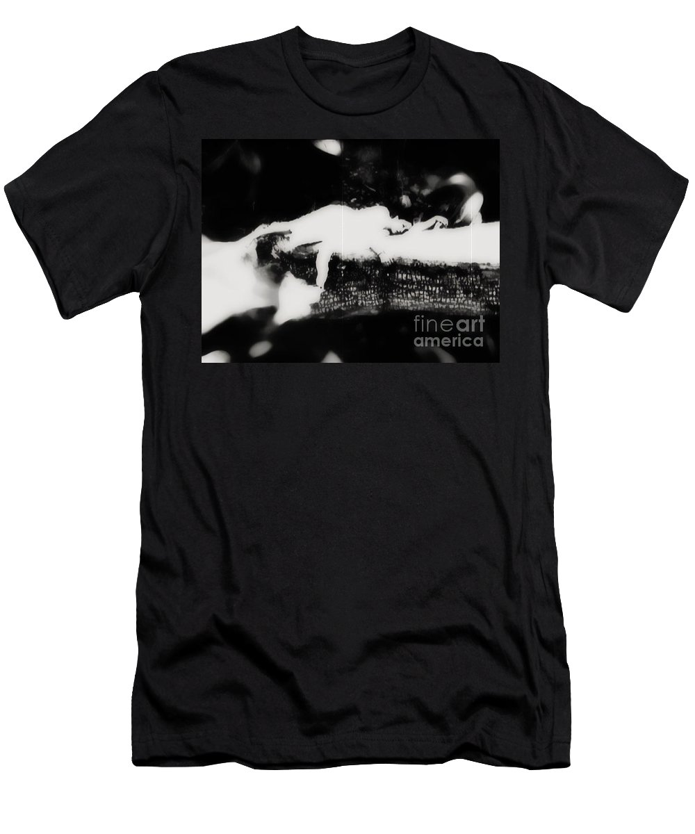 Black Men's T-Shirt (Athletic Fit) featuring the photograph Quietly by Jessica Shelton
