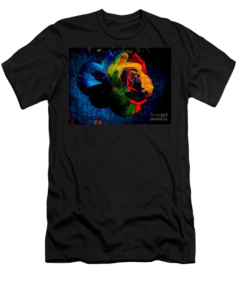 Rainbow Ecstasy Men's T-Shirt (Athletic Fit) featuring the photograph Rainbow Ecstasy by Kasia Bitner