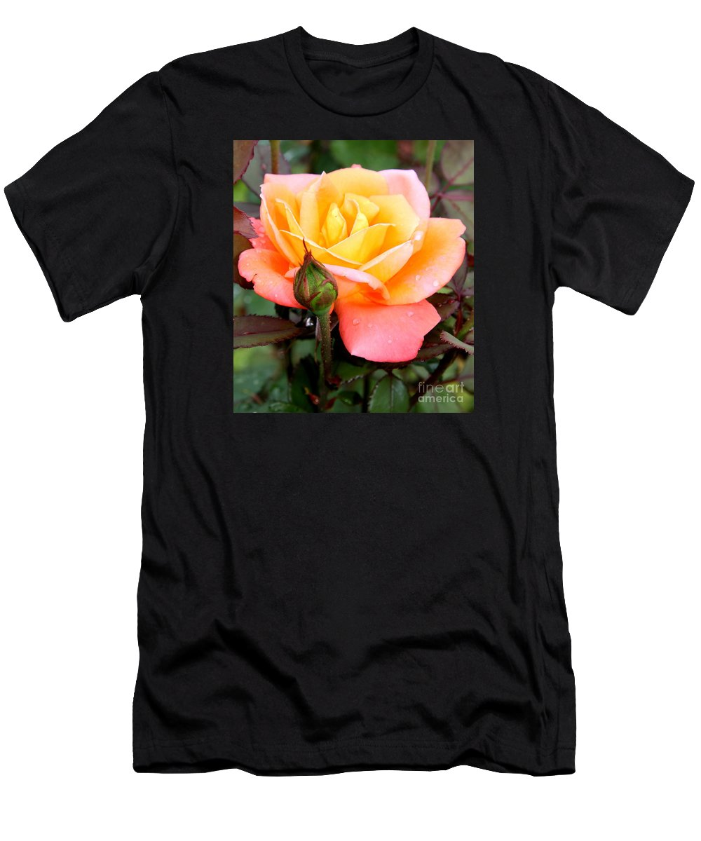 Rose Men's T-Shirt (Athletic Fit) featuring the photograph Raindrops On My Love by Christiane Schulze Art And Photography