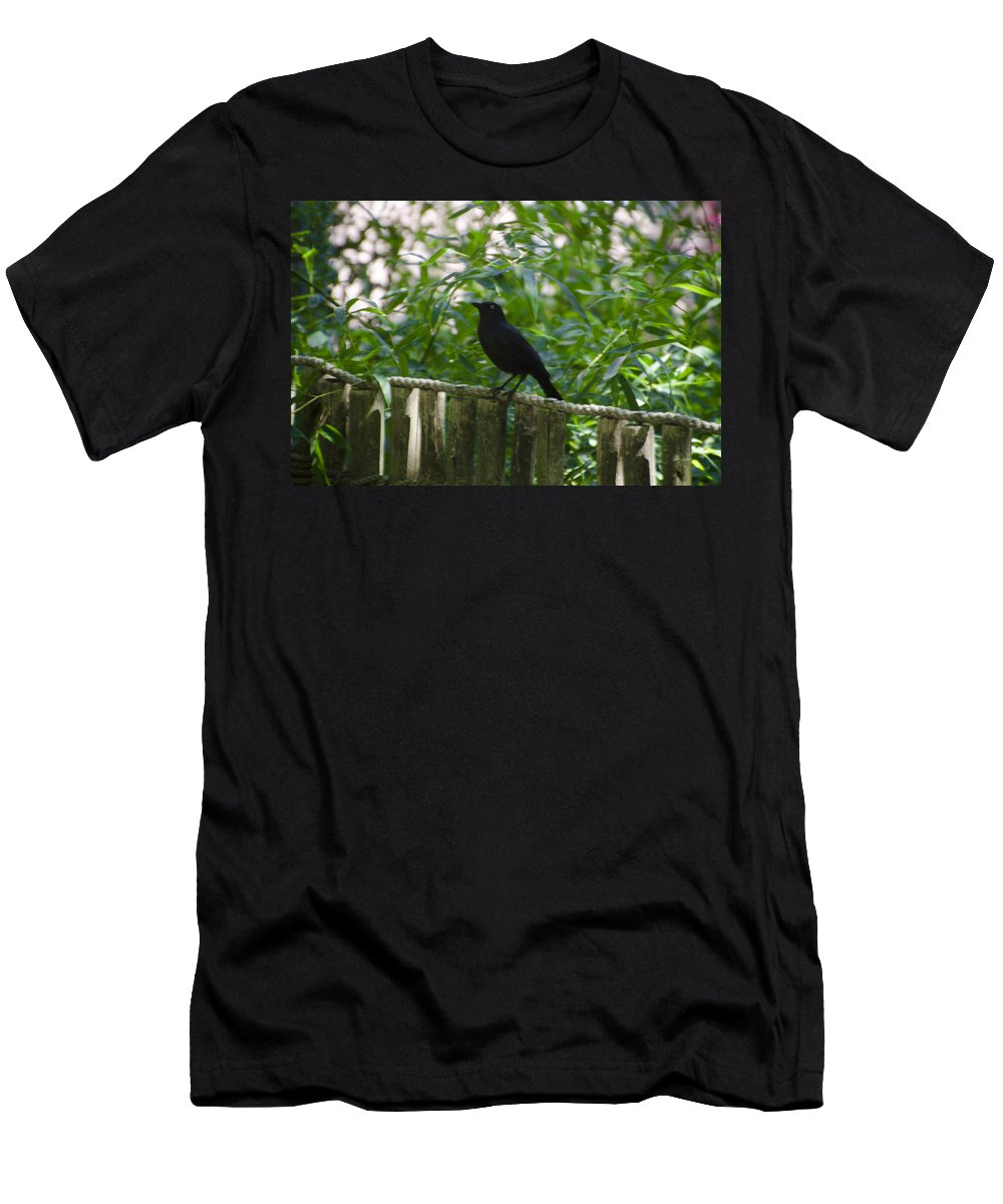 Raven Men's T-Shirt (Athletic Fit) featuring the photograph Raven In The Wild by Bill Cannon