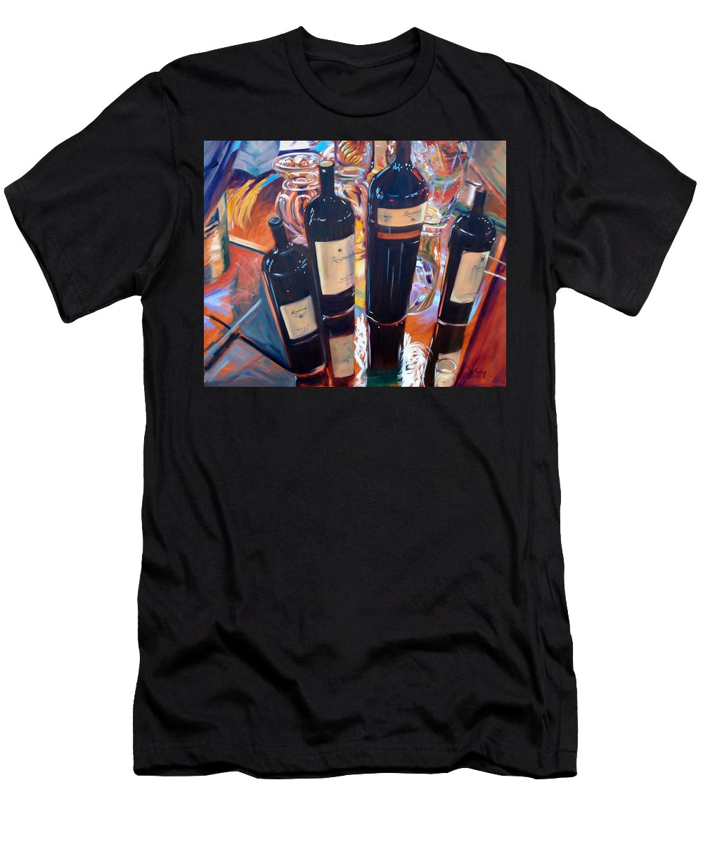 Wine Men's T-Shirt (Athletic Fit) featuring the painting Raymond Vineyards Crystal Cellar by Donna Tuten