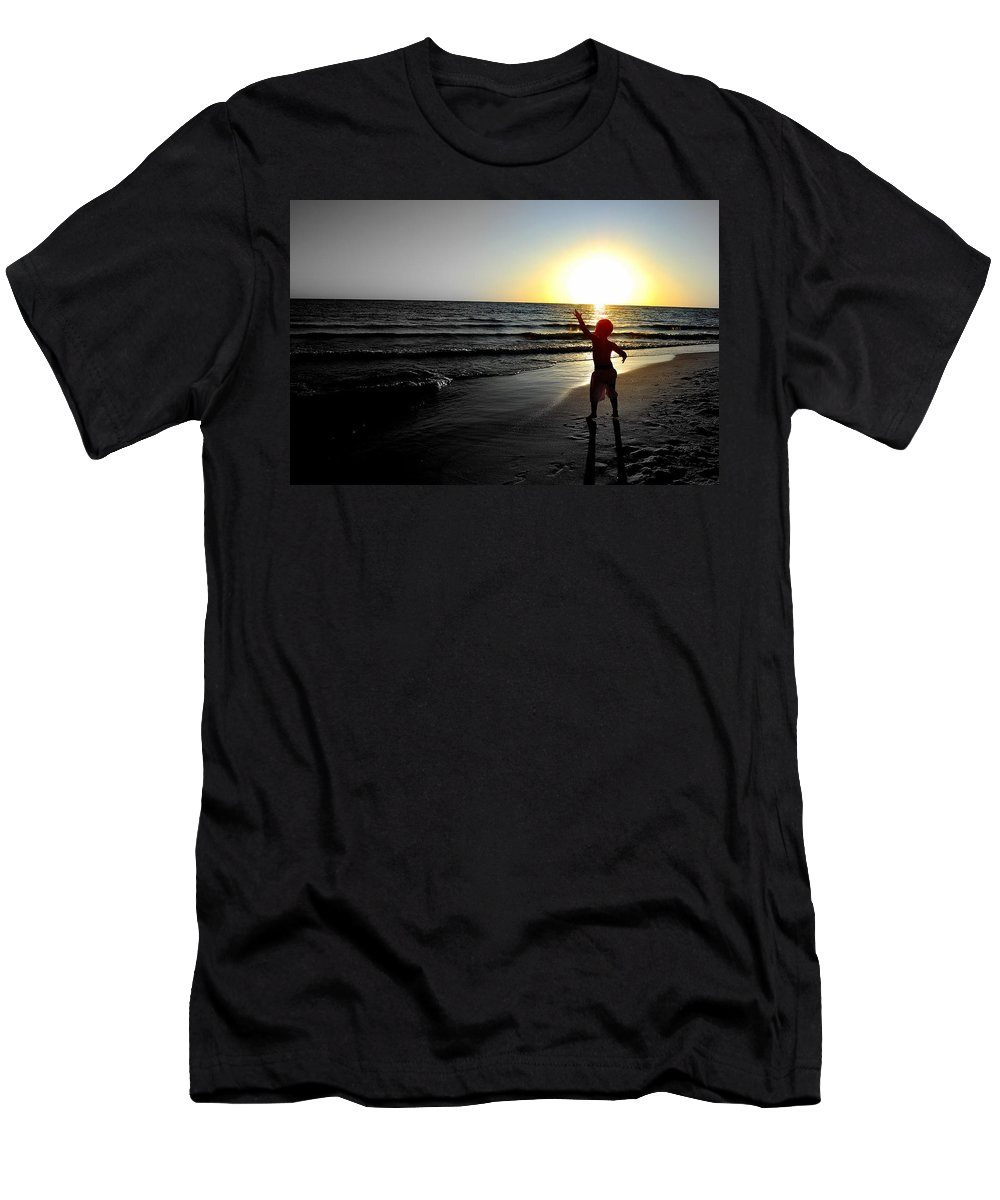 Beach Men's T-Shirt (Athletic Fit) featuring the photograph Reach For Your Dreams 2 Of 4 by May Photography