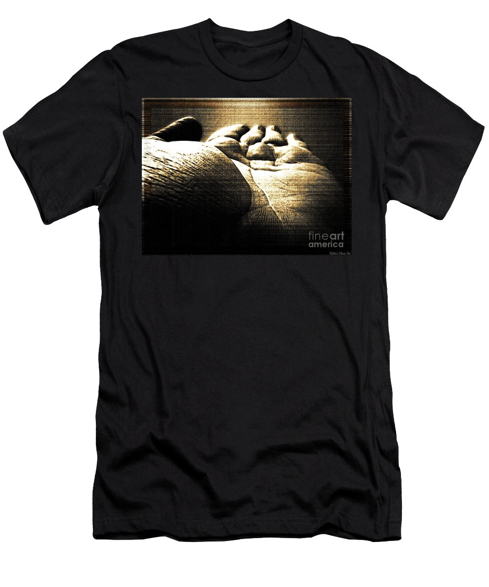 People Men's T-Shirt (Athletic Fit) featuring the photograph Reachin Out by Debbie Portwood