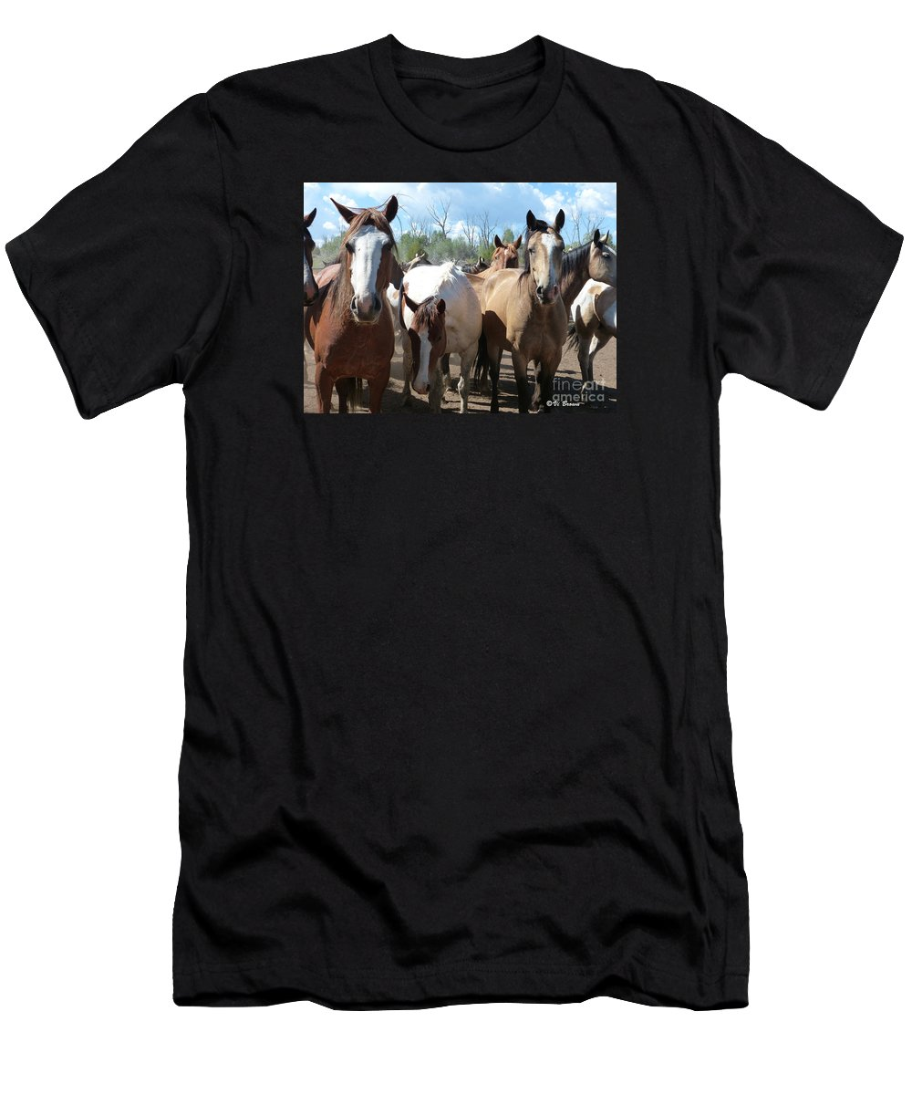 Real Close Men's T-Shirt (Athletic Fit) featuring the photograph Real Close by Vi Brown