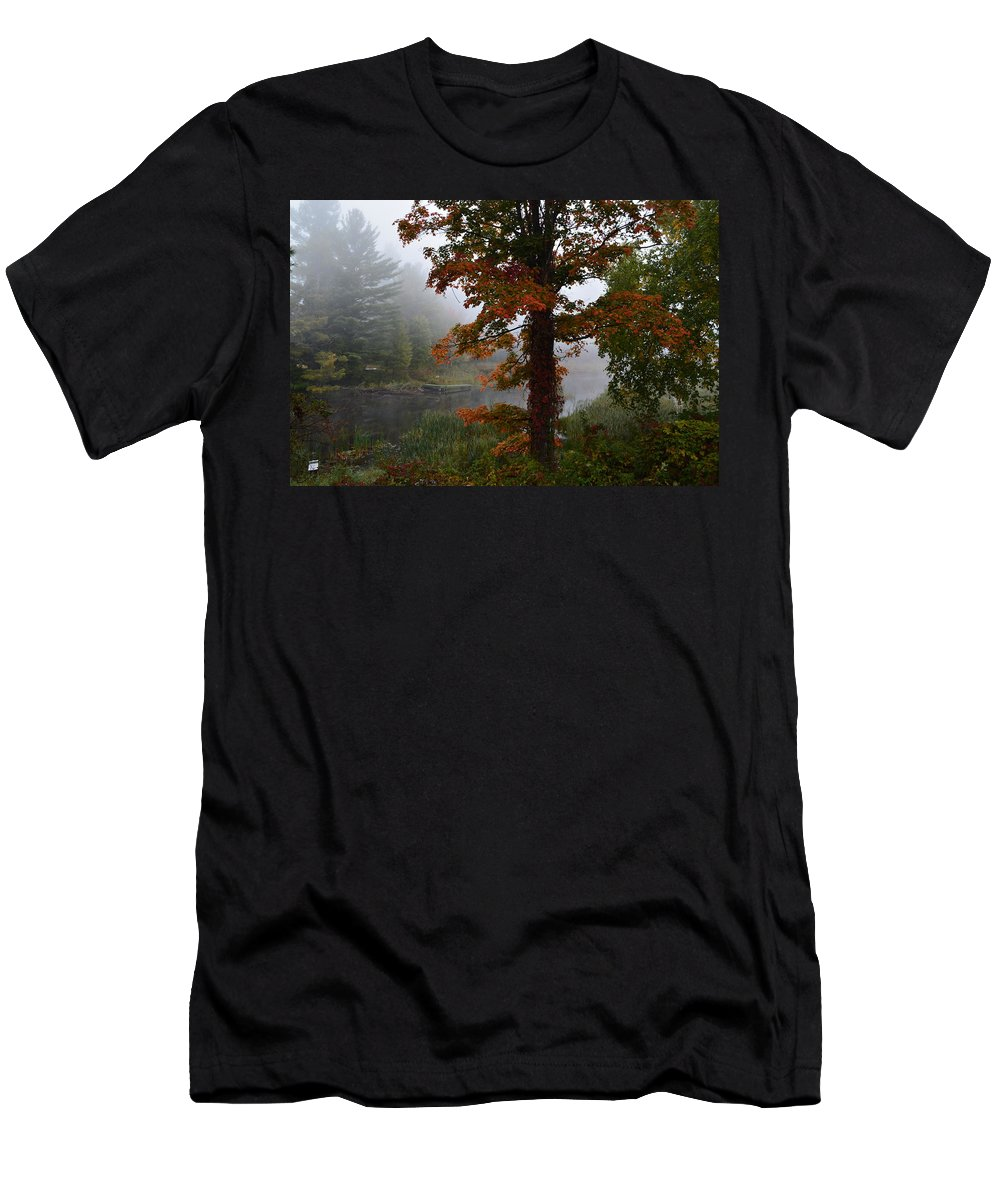 Sun Men's T-Shirt (Athletic Fit) featuring the photograph Red And Orange by Thomas Phillips