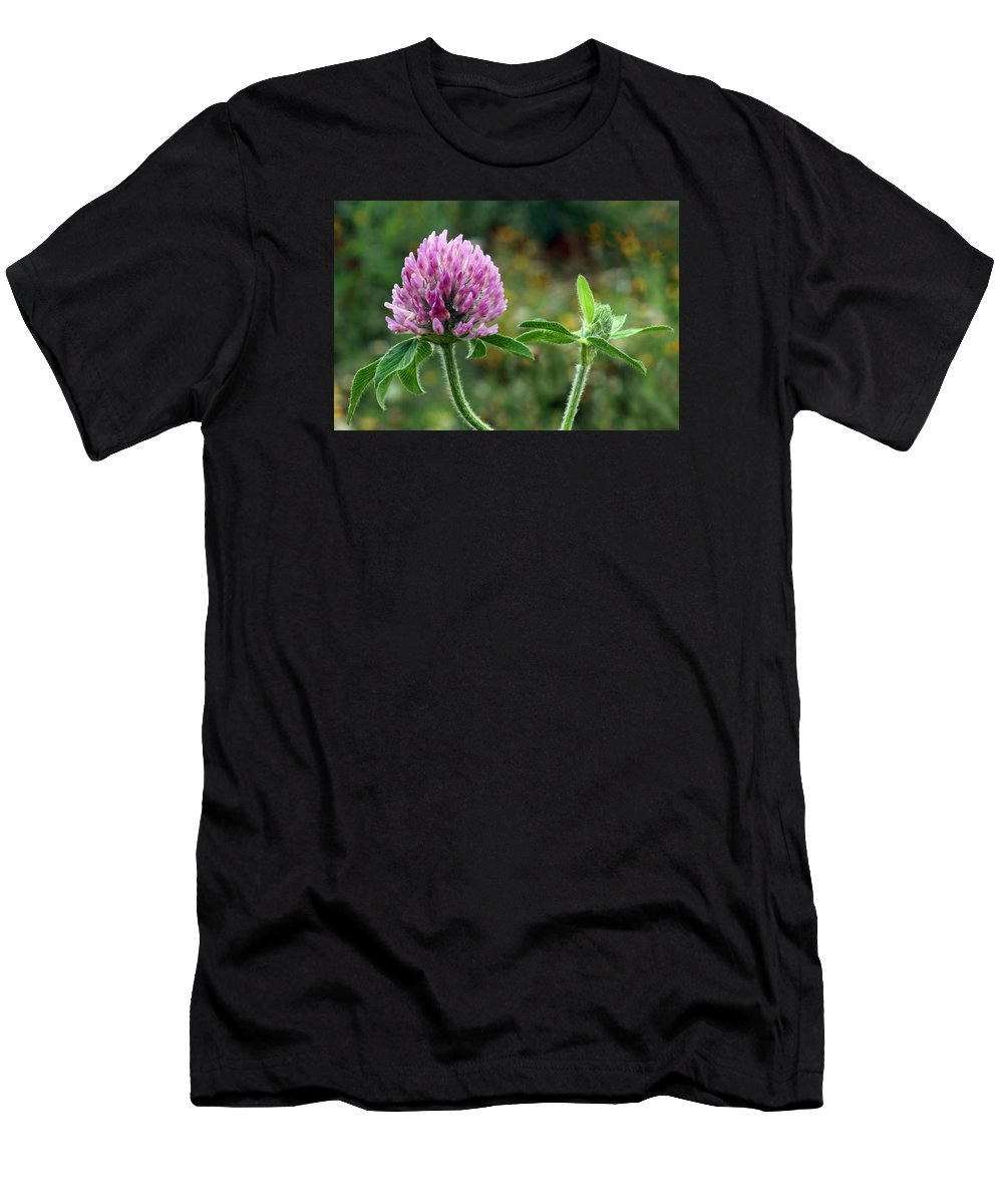 Clover Men's T-Shirt (Athletic Fit) featuring the photograph Red Clover by Nikolyn McDonald