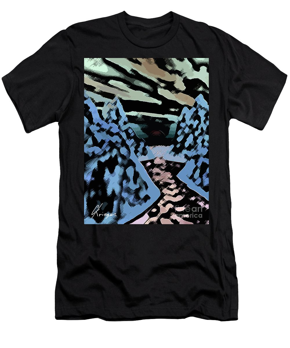 Abstract Men's T-Shirt (Athletic Fit) featuring the photograph Red Sea by Christopher Krieger