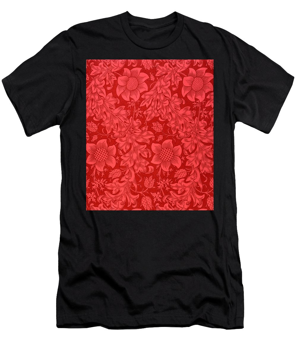 Red Sunflower Wallpaper Design 1879 T Shirt For Sale By William Morris