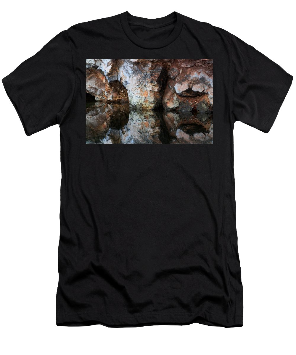 Reflection Men's T-Shirt (Athletic Fit) featuring the photograph Reflect by Donald J Gray