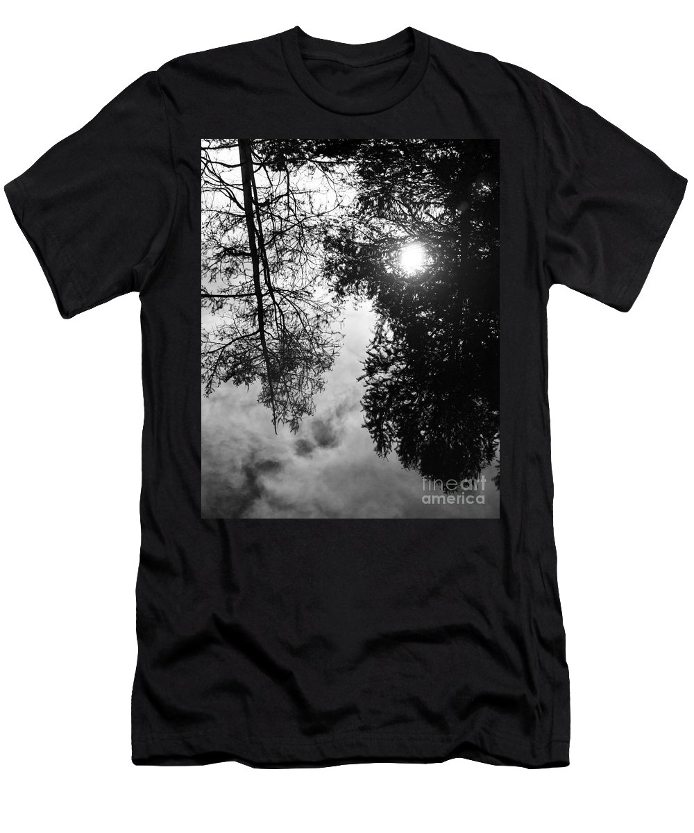 Vernon Lake Men's T-Shirt (Athletic Fit) featuring the photograph Reflection by Ken Frischkorn