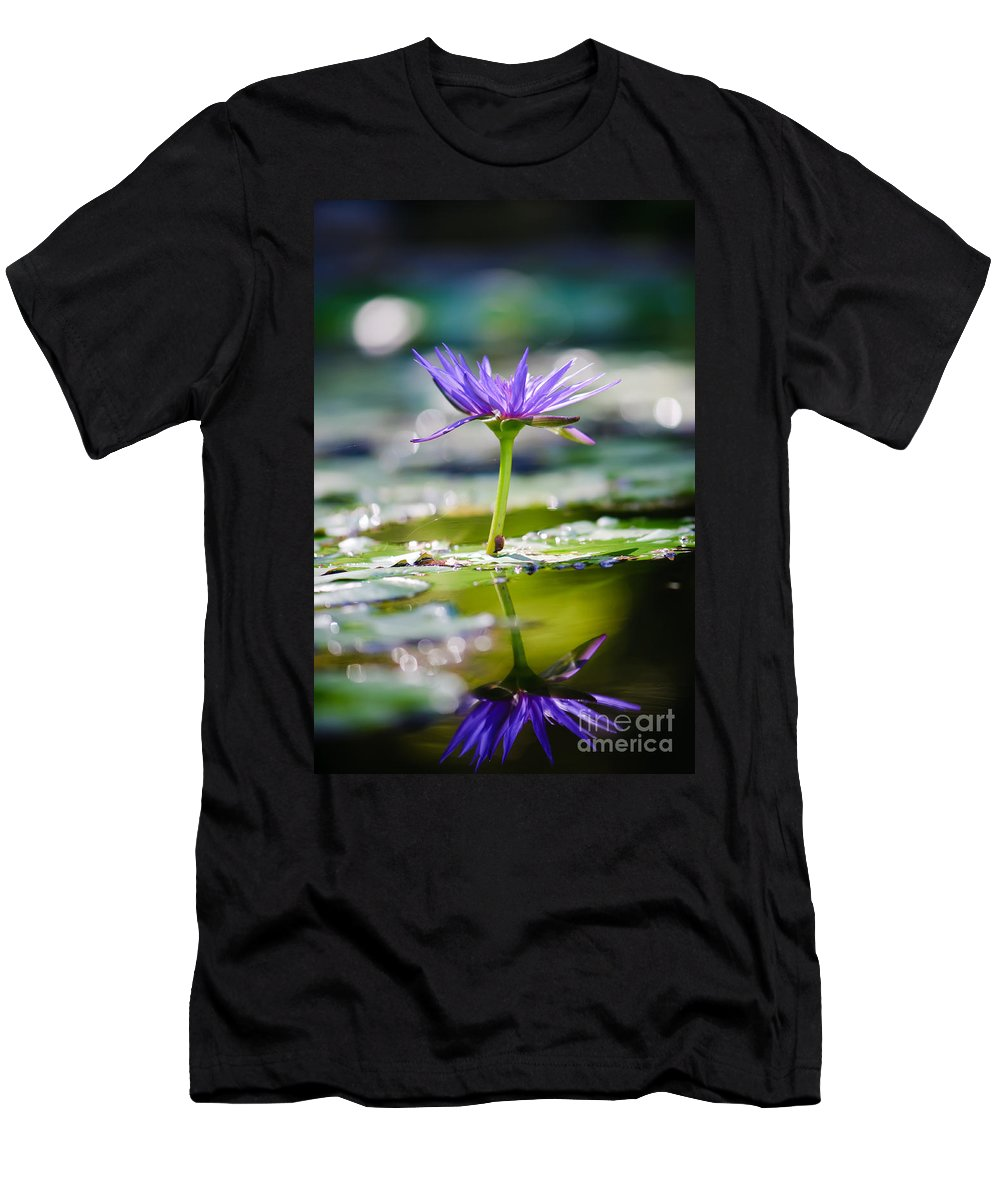 Flower Men's T-Shirt (Athletic Fit) featuring the photograph Reflection Of Life by Charles Dobbs