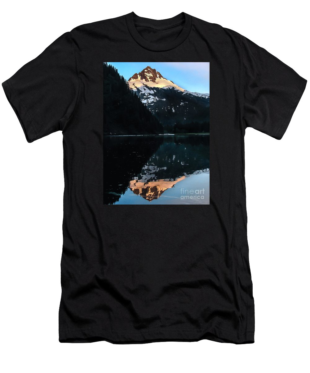 Alaska Men's T-Shirt (Athletic Fit) featuring the photograph Reflection by Robert Bales