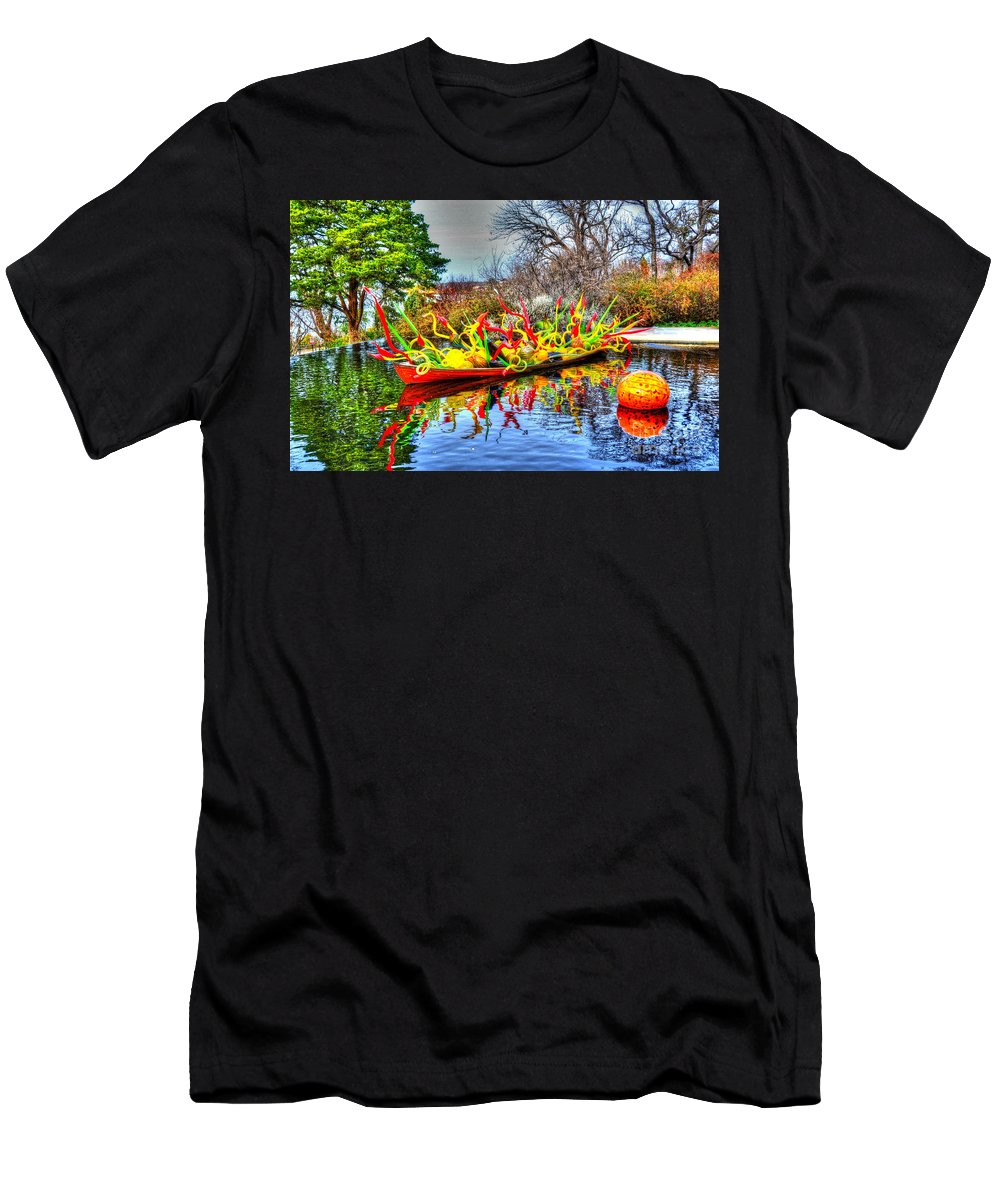 Boat Men's T-Shirt (Athletic Fit) featuring the photograph Reflective Boat by Debbi Granruth