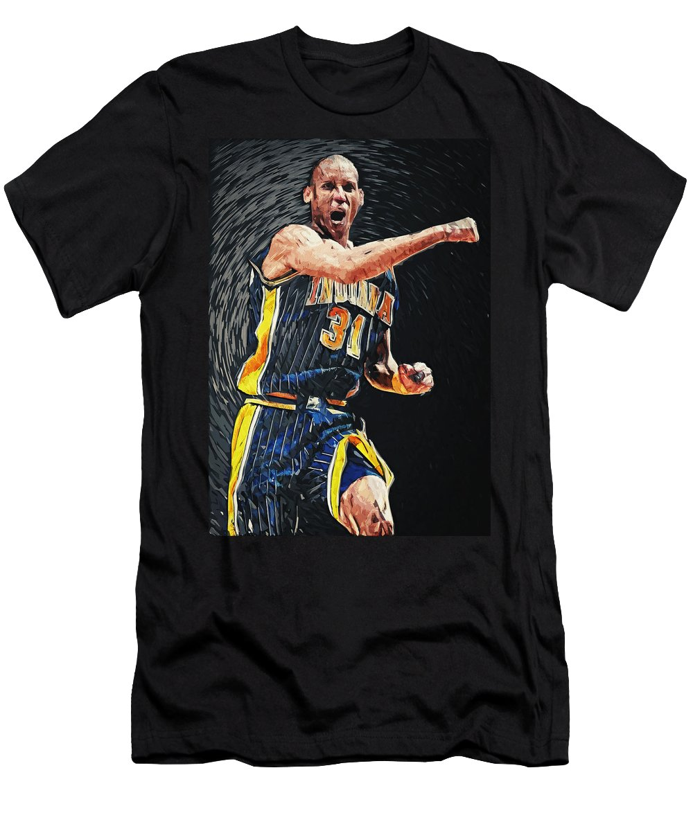 Reggie Miller Men's T-Shirt (Athletic Fit) featuring the digital art Reggie Miller by Zapista OU