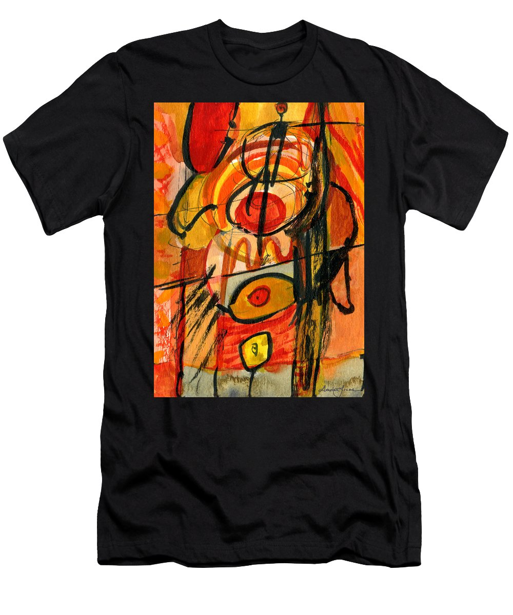 Abstract Art Men's T-Shirt (Athletic Fit) featuring the painting Relativity by Stephen Lucas