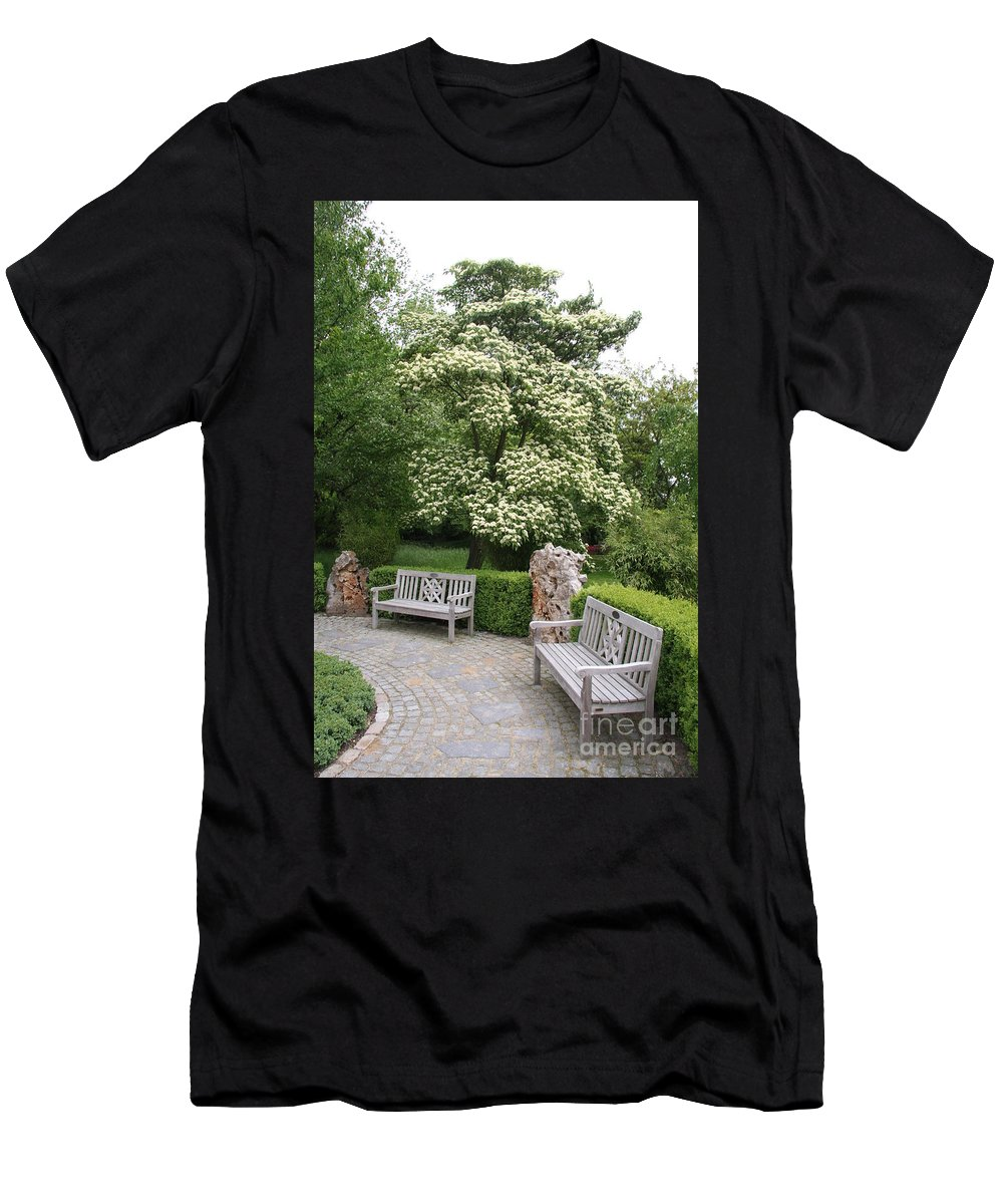 Park Men's T-Shirt (Athletic Fit) featuring the photograph Relax In The Park by Christiane Schulze Art And Photography