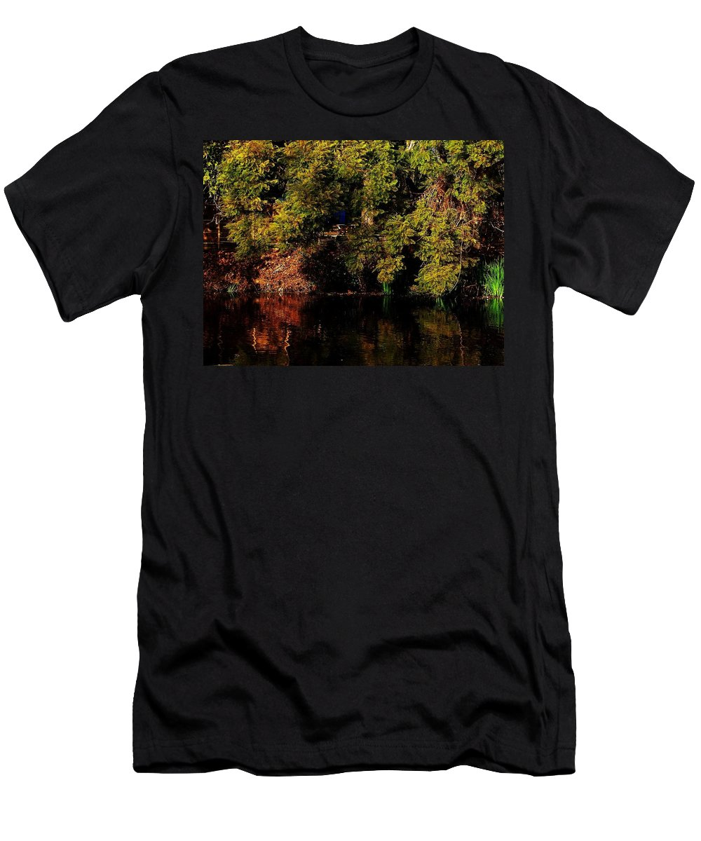 Los Angeles Arboretum Men's T-Shirt (Athletic Fit) featuring the photograph Relaxing To Sight Of Nature by Keisha Marshall