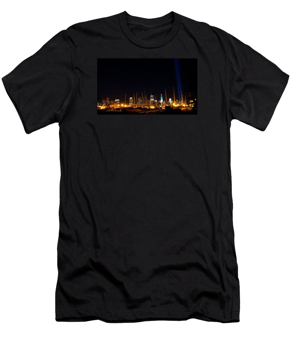 September 11th Men's T-Shirt (Athletic Fit) featuring the photograph Remembrance by Cathleen Cario-Reece